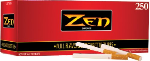 1 Box - 250pc Zen King Size Full - Roll Your Own Cigarettes Tobacco