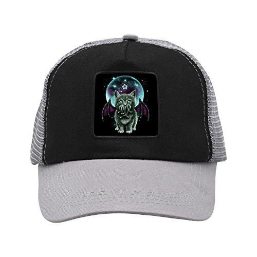 Baseball Cap Hat Fashion Mesh Unisex Adjustable Cosmic Purrrcraft Sun (New Halloween Movie Coming Out)