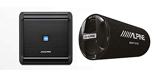 "Alpine MRV-M500 Mono V-Power Digital Amplifier + Alpine SWT-S10 10"" 1200W Bass Reflex Subwoofer"