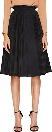 - Jil Sander Navy Women's Plisse Poplin Pleated Skirt Black 38