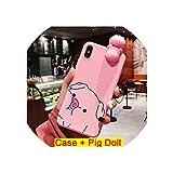 Cute Cartoon Pig Phone Case for Huawei P10 P20 Lite Plus Mate 20 Pro Nova 2 3 Cover Fashion Funny Nose Holder Soft Cases Capa Gel,4,P20 Pro