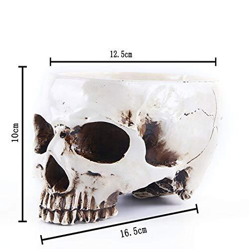 Best Quality - Flower Pots & Planters - Resin Skeleton Flower Pots Planter Skull Home Candlestick Decor Halloween Gifts Garden Flower Plant Pot Flowerpot - by SeedWorld - 1 -