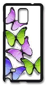 Abstract Butterflies DIY Hard Shell Black Best Designed Samsung Galaxy Note 4 Case