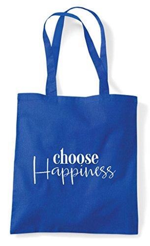 Bag Statement Choose Tote Happiness Shopper Blue Royal xRqZ7tq