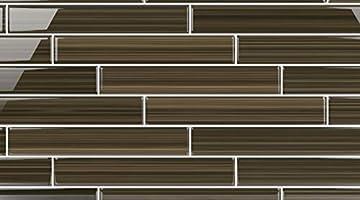 Bodesi Color Sample Mississippi Mud Glass Subway Tile for Kitchen Backsplash or Bathroom