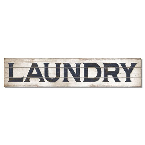 """36"""" x 7.5"""" Wooden Pine Pallet Sign - Laundry - Made in USA"""