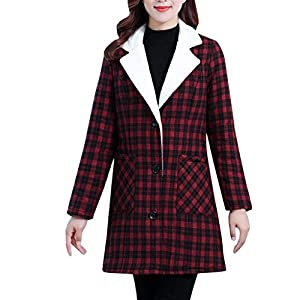 Best Women Lapel Coat Plaid Cardigan India 2021
