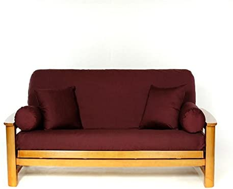 Peachy Ls Covers Burgundy Full Futon Cover Full Size Fits 6 8In Mattress 54 X 75 Inch Alphanode Cool Chair Designs And Ideas Alphanodeonline