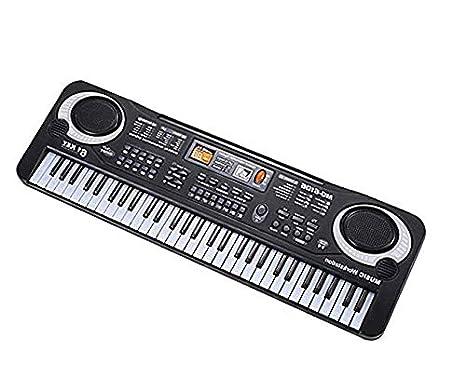 Teclado Piano para niños, 61 teclas de música Órgano electrónico digital, piano de juguete portátil, Instrumento musical para niños, con micrófono, ...