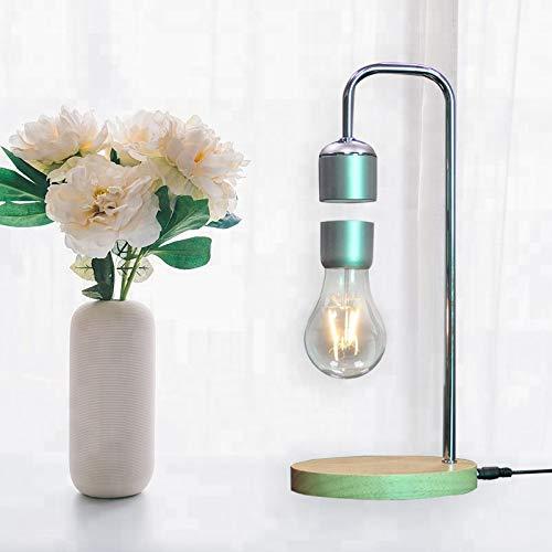 Magnetic Desk Lamp w/ Edison Bulb | Fun, Levitating College Dorm, Office, or Home Living Room Lighting | Smart Touch Switch, Energy Efficient Light | Safe Design