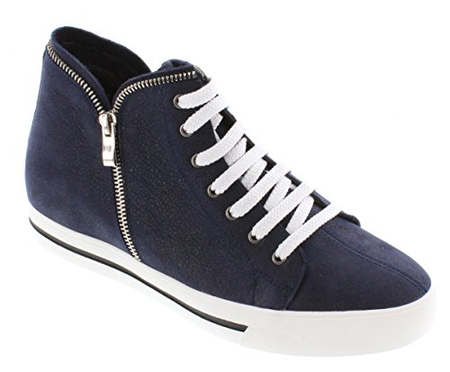 TOTO H08103-2.4 inches Taller - Height Increasing Elevator Shoes - Nubuck Navy Blue Lace-up Fashion Sneaker clearance Manchester 0FPSv