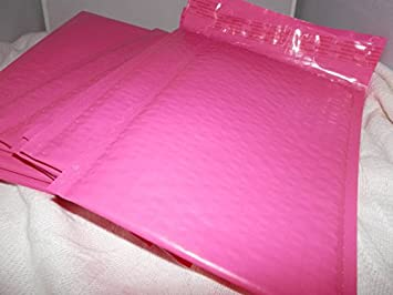 Amazon.com: 50 rosa 6 x 9 Poly burbuja Sobres: Office Products