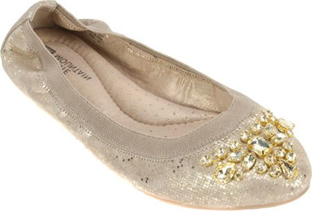 Witte Mountain Dames Careilla Gesloten Teen Balletschoenen Goud / Metallic Leer