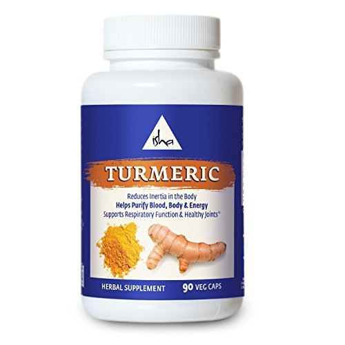 Cheap Isha Organic Turmeric Curcumin Supplement — Natural Ayurvedic Herbal Cleanser and Purifier – Enhances The Energy Body to Reduce Inflammation and Pain and Improve Immunity. 90 Vegetarian Capsules, 500