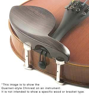 Guarneri All-Size Viola Chinrest Boxwood with Gold-Plated Hill Bracket