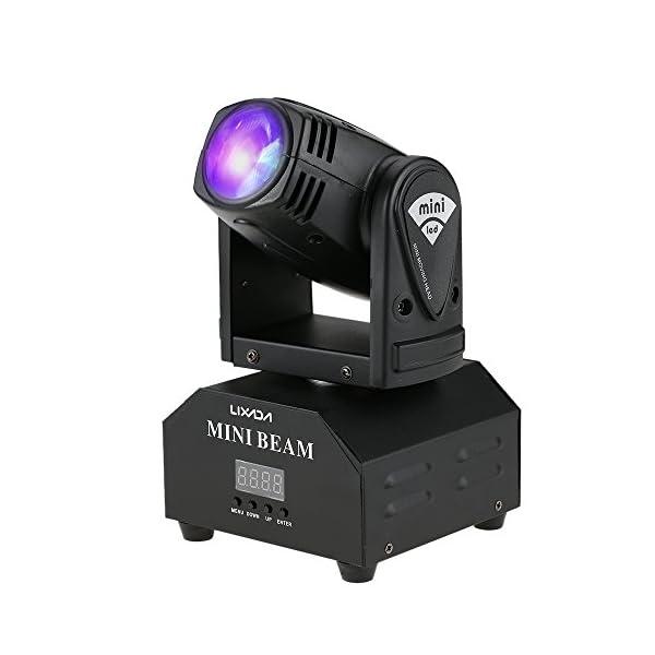 41DAMQjNHGL. SS600 - 50W Moving Heads Lixada,Lichteffekt,DJ Effekt,Bühnenbeleuchtung,Party Licht,Pin Spot DMX512 RGBW/4 Steuerungsmodi,11/13 Kanäle