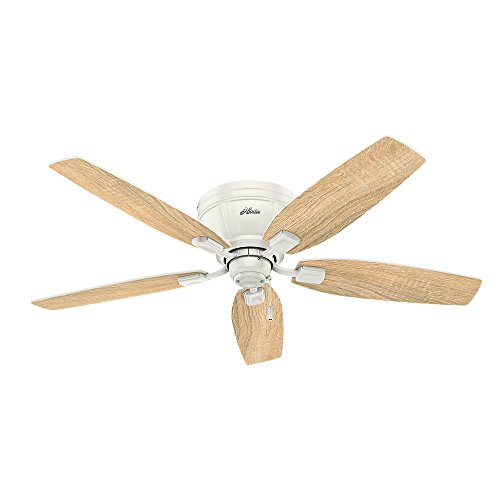 Hunter 53378 Kenbridge 52'' Ceiling Fan with Light, Large, Fresh White by Hunter Fan Company (Image #4)