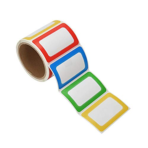 - PAPRMA 200 Colorful Name Tags Plain Name Tag Labels Stickers, 3 1/2 X 2 1/4, 1 Roll