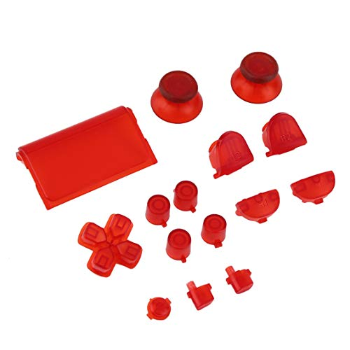 Professional Gamepad Controller Buttons Durable Replacement Buttons for Sony for PS4 Video Game Console Accessories - Bright Red from Vige
