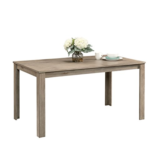 White Finish Wood Dining Table - Sauder 418694 New Grange Dining Table, L: 59.76