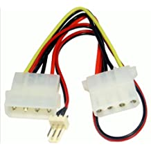 kenable Power Converter Cable 4 pin LP4 Molex Female to 3 pin Fan Adapter