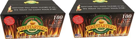 Lightning Nuggets Economy Box Fire Starter, 100 Count, Tan (2) by Lightning Nuggets