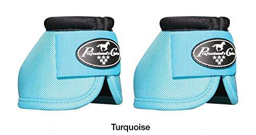 Professionals Choice Equine Ballistic Hoof Overreach Bell Boot, Pair (Medium, Turquoise) ()