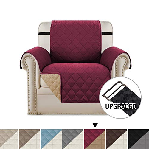 H.VERSAILTEX Reversible Chair Slipcover Chair Covers for Living Room, Sofa Covers for Dogs with 2
