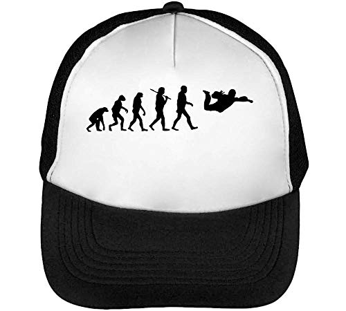 Evolution Skydiving Gorras Hombre Snapback Beisbol Negro Blanco