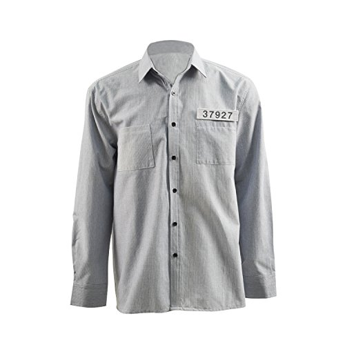 TISEA Men's Blouse Tim Robbins Grey Shirt Andy Dufresne Cosplay Costumes (S, (Shawshank Redemption Costumes)