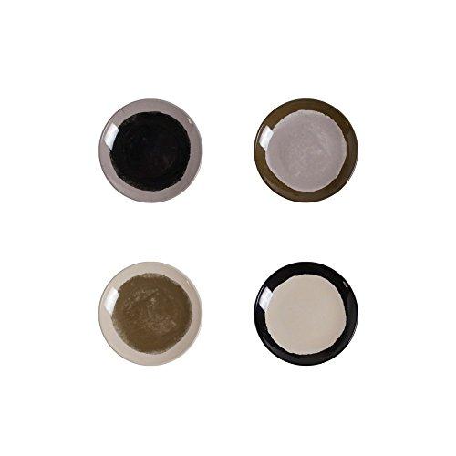 - Odeme Isla Dinner Plate Set - 4 Melamine Dinner Plates - Bauhaus Dessert Plate (Set of four)