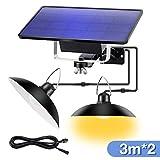 LED Solar Pendant Light Outdoor Indoor Solar Power