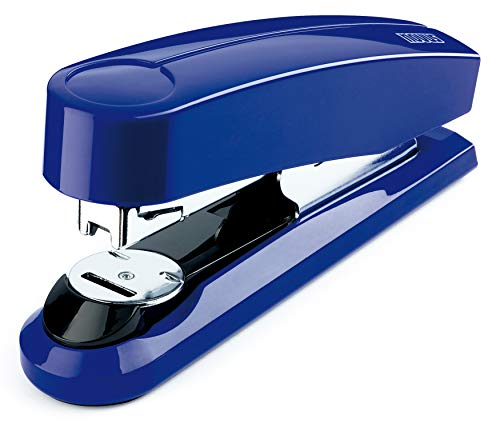 Novus B4fc Compact Flat Clinch Stapler, 50 Sheet Capacity, German Engineered, Staple|Pin|Tack, Steel Drive, 25 Yr. Warranty, Blue (020-1468)