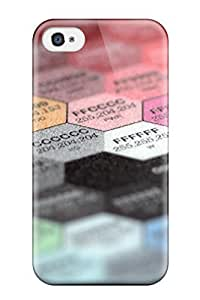 Anti-scratch And Shatterproof Color Spectrum Phone Case For Iphone 4/4s/ High Quality Tpu Case