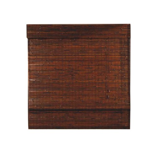 Radiance 0247560 Woven Wood Bamboo Roman Shade, 60-Inch Wide by 64-Inch Long, Java Mahogany