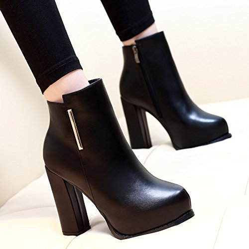 Britische Wind Frauen KHSKX Haben Stiefel black Stiefel Kurze Tabelle Schuhe Neue Winter Kurze Von Single Boot Und Heels Wasserdichte Martin Herbst nOBrn4H61