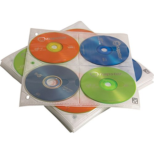 Case Logic CDP-200 200 Disc Capacity CD ProSleeve Pages (White)