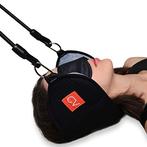 Oacis Life Head Hammock for Neck and Shoulder Pain Relief | [2019 Updated] Cervical Traction and Stretcher Device for Men and Women with Bonus Eye -