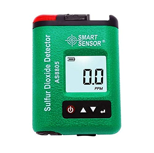 Digital Single Sulfur Dioxide Gas Monitor High Sensitivity Sound Light Alarm SO2 Toxic Gas Detector Tester With Rechargeable Li-Battery