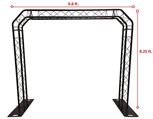BLACK TRUSS ARCH KIT 8.25FT Height Mobile Portable DJ Lighting System Metal Arch. UP TO 660 POUND CAPACITY! QUICK/EASY SETUP! ALL METAL! - Mobile Truss System