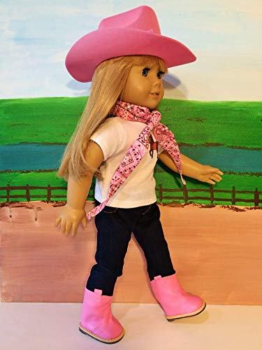 507901762 The Wishlist Store Western Cowgirl Cowboy Outfit ~ 18 Inch - Import It All