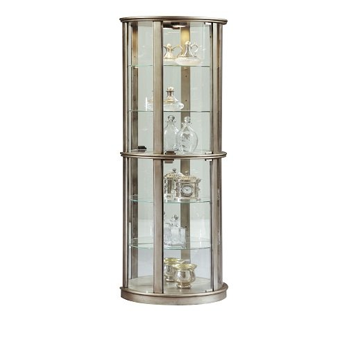 Pulaski Glass Door Curio, Silver