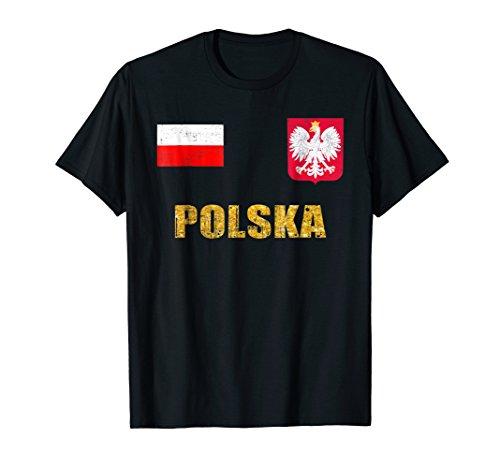 Poland Soccer Jersey World Shirt Cup Football Fan Flag ()