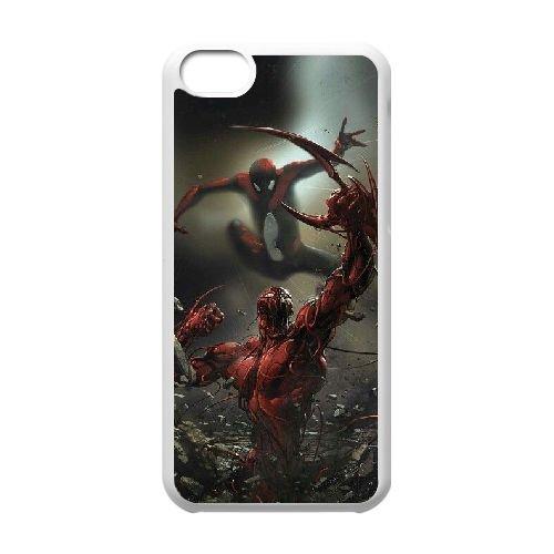 Pictures Of Spiderman 010 coque iPhone 5C Housse Blanc téléphone portable couverture de cas coque EEEXLKNBC18695