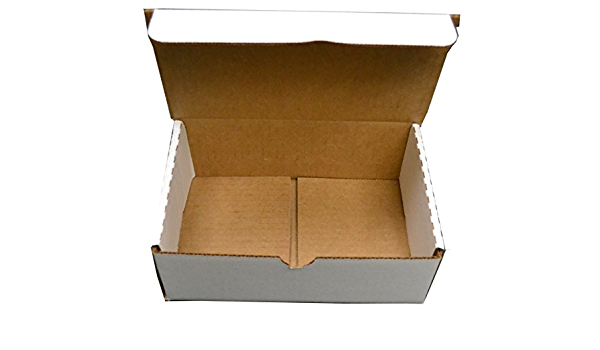Shipping Supplies White Corrugated Mailer Boxes 8 x 3 x 3 in, 60 Pack