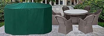 HBCOLLECTION - Housse pour salon de jardin rond 200cm polyester ...