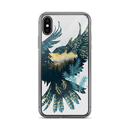 iPhone X/XS Pure Clear Case Cases Cover Eagle Illustration Digital Art