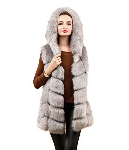 Chaqueta ' Faux Womens Adulto Soft Chaleco Lightgray Folobe ZTza1n