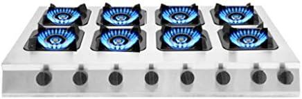 商業ガスホブコンロ4バーナーLPG / NGデュアル燃料ステンレス鋼右ノブガスホブビルトインガスホブ、パルス電子点火