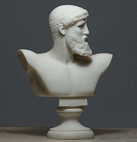 Greek Roman King God ZEUS Bust Head Alabaster Statue Sculpture (Roman Head)